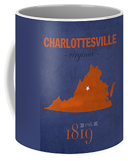 University Of Virginia Cavaliers Charlotteville College Town State Map Poster Series No 119 Coffee Mug