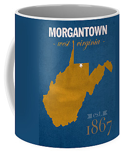 University Of West Virginia Mountaineers Morgantown Wv College Town State Map Poster Series No 124 Coffee Mug