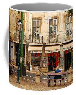 Lisbon Street Scene Coffee Mug