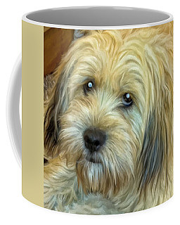 Coffee Mug featuring the painting Chewy by Michael Pickett
