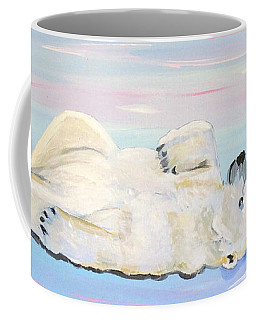 Coffee Mug featuring the painting Unusual Buddies  Must Open by Phyllis Kaltenbach