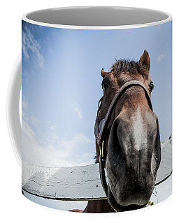 Up Close Coffee Mug by Alexey Stiop