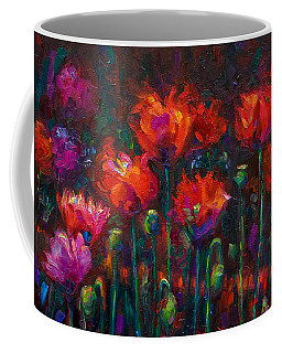 Coffee Mug featuring the painting Up From The Ashes by Talya Johnson