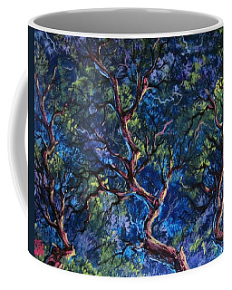 Coffee Mug featuring the painting Up In The Tree Tops by Megan Walsh