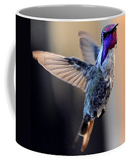 Coffee Mug featuring the photograph Up Up And Away Male Hummingbird by Jay Milo