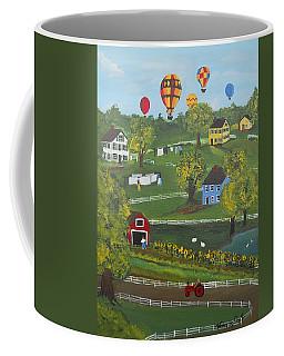 Coffee Mug featuring the painting Up Up And Away by Virginia Coyle
