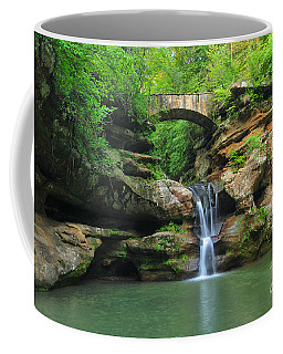 D10a-113 Upper Falls At Old Mans Cave Hocking Hills Photo Coffee Mug