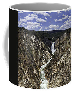 Lower Falls Of Yellowstone River Coffee Mug