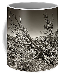 Coffee Mug featuring the photograph Uprooted - Bryce Canyon Sepia by Tammy Wetzel