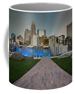 Coffee Mug featuring the photograph Uptown Charlotte by Serge Skiba
