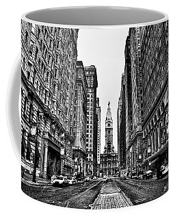Urban Canyon - Philadelphia City Hall Coffee Mug by Bill Cannon