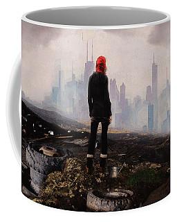 Coffee Mug featuring the digital art Urban Human by Galen Valle