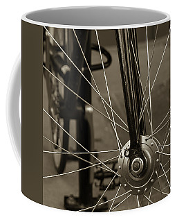 Urban Spokes In Sepia Coffee Mug by Steven Milner