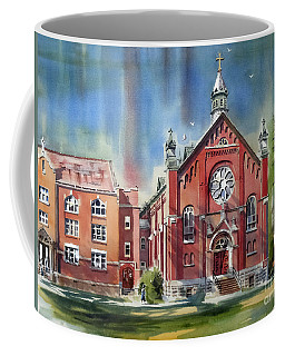 Coffee Mug featuring the painting Ursuline Academy With Doves by Kip DeVore