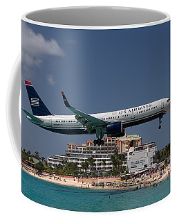 U S Airways At St Maarten Coffee Mug by David Gleeson