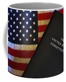 United States Constitution And Flag Coffee Mug