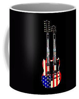 U S Flag Gibson Guitar Poster Coffee Mug