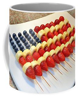 American Flag Fruit Kabobs Coffee Mug
