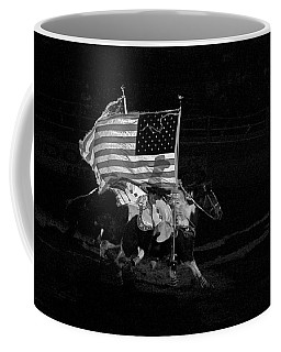 Coffee Mug featuring the photograph U.s. Flag Western by Ron White