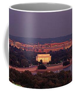 Usa, Washington Dc, Aerial, Night Coffee Mug