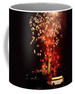 Usa, Washington Dc, Fireworks Coffee Mug