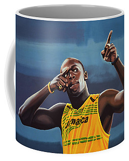 Usain Bolt Painting Coffee Mug