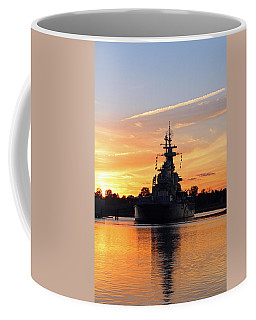 Coffee Mug featuring the photograph Uss Battleship by Cynthia Guinn