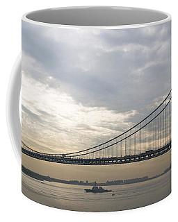 Uss Cole And The Verrazano Narrows Bridge Coffee Mug