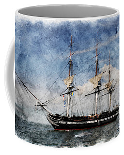 Coffee Mug featuring the photograph Uss Constitution On Canvas - Featured In 'manufactured Objects' Group by Ericamaxine Price
