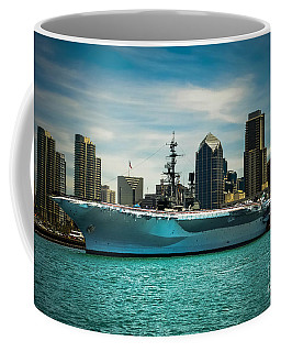 Uss Midway Museum Cv 41 Aircraft Carrier Coffee Mug by Claudia Ellis