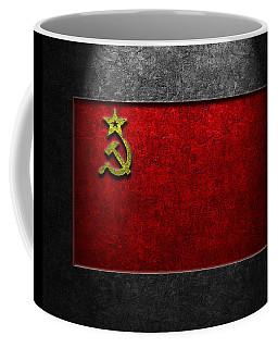 Ussr Flag Stone Texture Coffee Mug