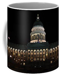Coffee Mug featuring the photograph Utah State Capitol Front by David Andersen