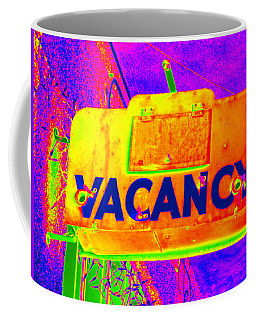 Vacancy Hotel Sign Coffee Mug