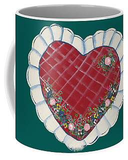 Coffee Mug featuring the painting Valentine Heart by Barbara McDevitt