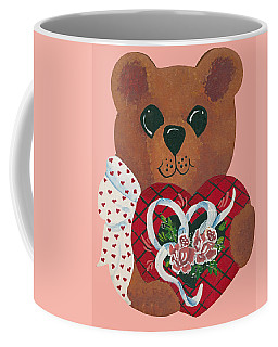 Coffee Mug featuring the painting Valentine Hug by Barbara McDevitt