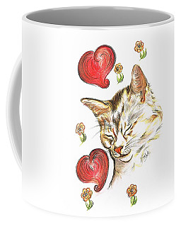 Valentine Cat Coffee Mug