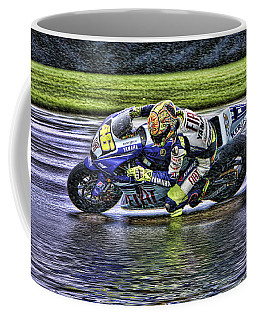 Valentino Rossi At Indy Coffee Mug
