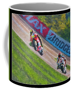 Valentino Rossi Leads Marco Simoncelli Coffee Mug