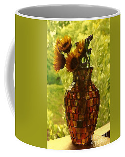 Coffee Mug featuring the photograph New Orleans Van Gogh Vase Revisited by Michael Hoard