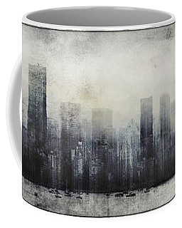 Vancouver Skyline Abstract 1 Coffee Mug by Peter v Quenter