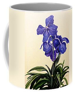 Vanda Sausai Blue Orchid Coffee Mug