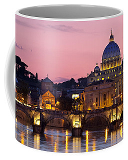Coffee Mug featuring the photograph Vatican Twilight by Brian Jannsen