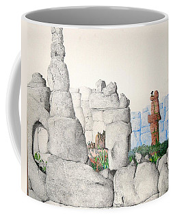 Coffee Mug featuring the painting Vaulting by A  Robert Malcom
