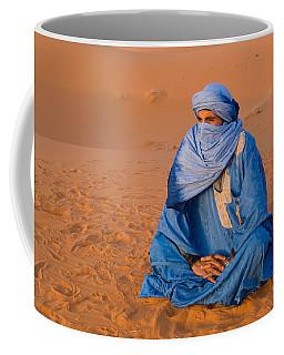 Veiled Tuareg Man Sitting Cross-legged Coffee Mug