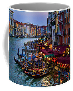 Venetian Grand Canal At Dusk Coffee Mug by David Smith