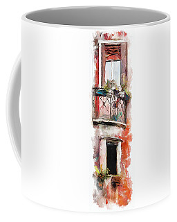 Coffee Mug featuring the painting Venetian Windows 4 by Greg Collins