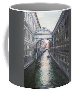 Venice Bridge Of Sighs - Original Oil Painting Coffee Mug