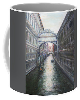 Venice Bridge Of Sighs - Original Oil Painting Coffee Mug by Quin Sweetman