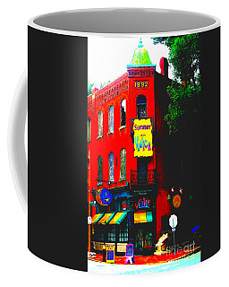Venice Cafe' Painted And Edited Coffee Mug