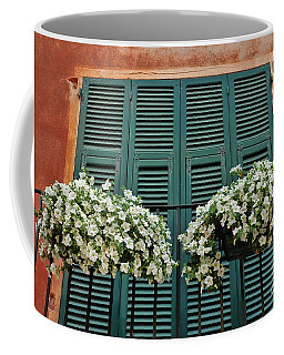 Coffee Mug featuring the photograph Venice Flower Balcony 2 by Allen Beatty